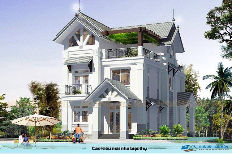 Các kiểu mái nhà biệt thự