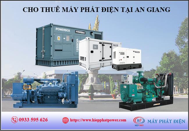 Cho thuê máy phát điện tại An Giang