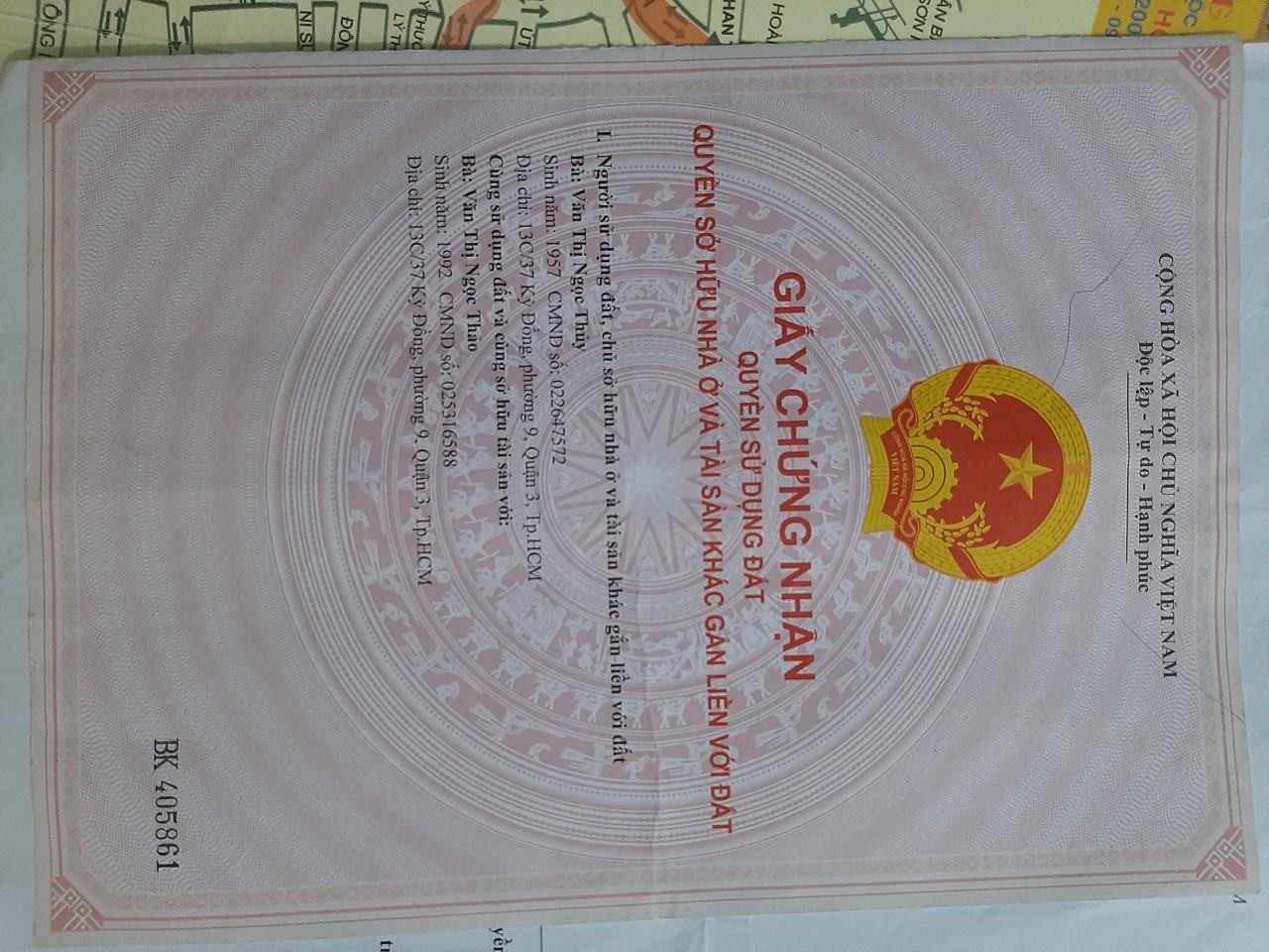 Cần bán nhà mặt tiền Thị Trấn Tân Hiệp Huyện Hóc Môn